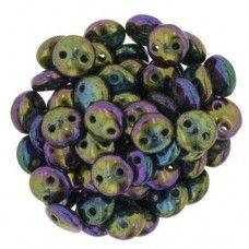 Iris Purple 2-Hole 6mm Lentil Beads - Strand of 50 Beads - LNT36-21495JT