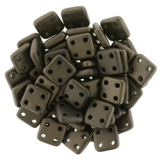 Bulk Bag Matte - Dark Bronze 6mm Quadratile - 100gm bag