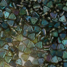 Aquamarine Celsian  Czechmate Triangle Beads, approx 8g