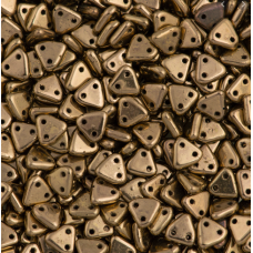 Bronze Czechmate Triangle Beads, approx 8g