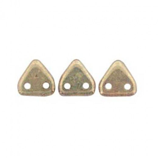 Bulk Bag Bronze Olivine Czechmate Triangle Beads, approx 100g