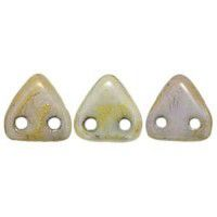 Bulk Bag Opaque Luster Green Czechmate Triangle Beads, approx 100g