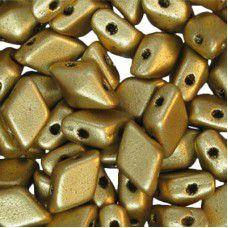 Matte Gold Diamonduo Beads, Pack of 34