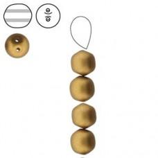 Double Hole Dobble Beads, Matte Metallic Antique Brass, 20 Beads