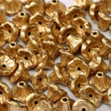 Aztec Gold 5x7mm Flower Cup Beads, approx. 50