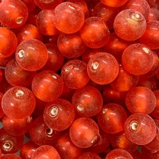 10mm Orange Foiled Glass Beads, Pack of 10