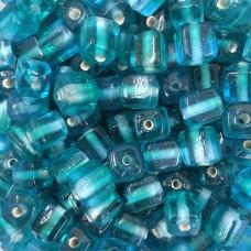 Aqua Two Tone Glass Cubes, Pack of 10