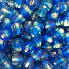 Bulk Bag Two Tone Glass Cubes, Blue, Approx 250 Grams