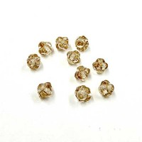5mm Czech Glass Clear Spacer Beads. Pack of 10