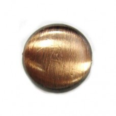 17 x 8mm Flat Tablet Brushed Satin Copper Beads