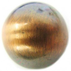 22mm Round Bead Brushed Satin Copper Bead