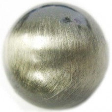 16mm Round Bead Brushed Satin Silver Bead