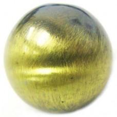 22mm Round Bead Brushed Satin Brass Bead