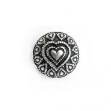 18mm Flat Designed Heart Fancy Bead