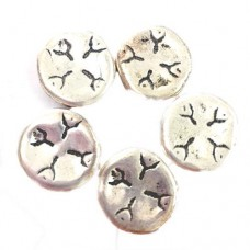13mm Flat Fancy Design Beads, Pack of 5