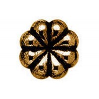 12mm Flat Designed Fancy Bead, Antique Copper Plated