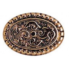 24mm Flat Designed Oval Bead, Antique Copper Plated