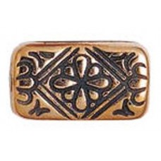 21mm Flat Designed Rectangle Bead, Antique Copper Plated