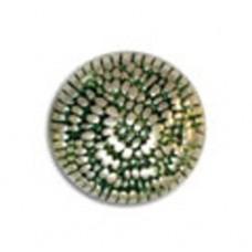 24x15mm Dimpled Pillow Green Patina Bead