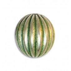 17mm Onion Green Patina Bead, ON17/GPS