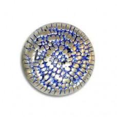 19x13mm Dimpled Pillow Blue Denim Bead