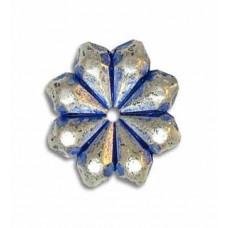 4x15mm Blue Denim Bead, pack of 2