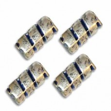 4x9mm Barber Pole Bead, pack of 5