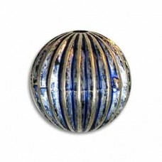 12mm Onion Blue Denim Bead, pack of 4