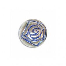9mm Rosebud Blue Denim Bead, pack of 10
