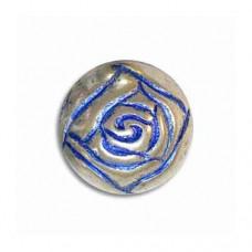 14mm Rosebud Blue Denim Bead, pack of 3