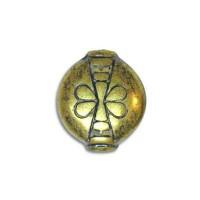 Blue Denim Brass Butterfly Beads