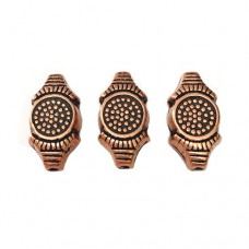 24mm Flat Designed Bead, Antique Copper Plated, Pack of 2