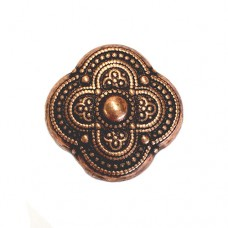 24mm Flat Designed Fancy Bead, Antique Copper Plated