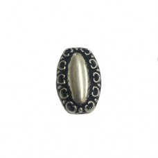 16mm Flat Designed Bead, pack of 3