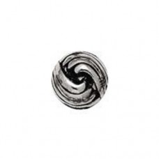 10mm French Knot Antique Silver Beads, Pack of 19
