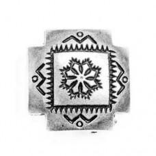 24mm Concho Antique Silver Bead