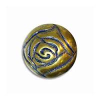 Blue Patina Plated Brass Beads