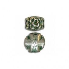 12x16mm Green Patina Bead