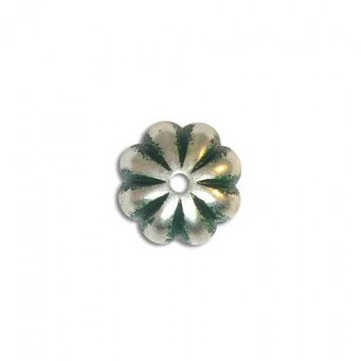 10x14mm Green Patina Bead