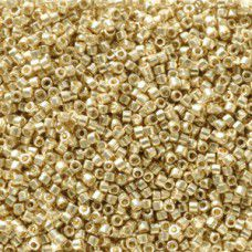 Pale Gold Galvanised Duracoat colour 2501, size 11/0 Miyuki Delicas, 5.2g approx...