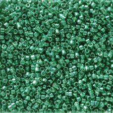 Dark Aqua Green Galvanised Duracoat colour 2506, size 11/0 Miyuki Delicas, 5.2g ...
