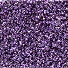 Dark Lilac Galvanised Duracoat colour 2509, size 11/0 Miyuki Delicas, 5.2g appro...