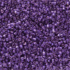 Lilac Night Galvanised Duracoat colour 2510, size 11/0 Miyuki Delicas, 5.2g appr...