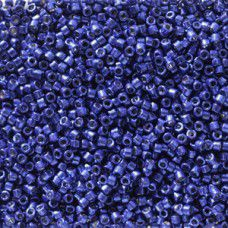 Navy Galvanised Duracoat colour 2511, size 11/0 Miyuki Delicas, 5.2g approx.