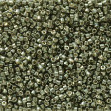 Dark Steel Green Galvanised Duracoat colour 2512, size 11/0 Miyuki Delicas, 5.2g...