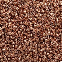 Bright Copper Plated, Colour Code 0040, Size 11/0 Delicas, 5.2g approx.