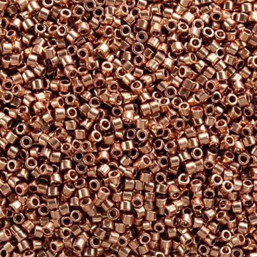 Bright Copper Plated, Colour Code 0040, Size 11/0 Delicas, 50g approx.