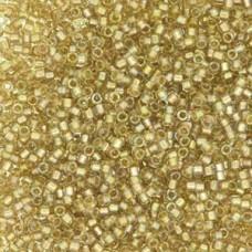 Champagne Fancy Lined Colour 2396, Size 11/0 Delicas, 50gm bag