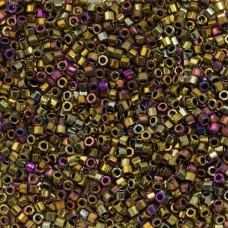 Purple Metallic Gold, Colour Code 0029, Size 11/0  Cut Delicas, 5.2g approx.