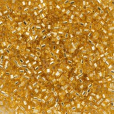 Gold Silver Lined, Colour code 42 Size 15/0 Cut Delicas, 5.2g approx.
